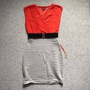 Express Body Con Dress with Belt